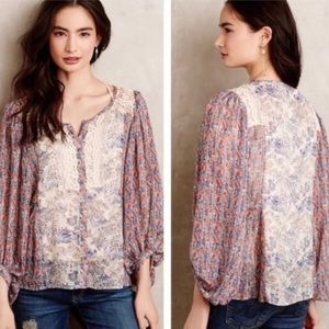 Anthro HD in Paris chinoiserie peasant blouse 4